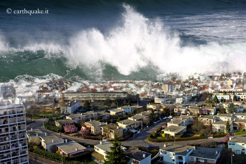 Tsunami: A wave of terror Offshore the waves are usually of very low height: