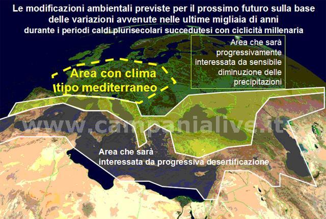 Il cambiamento climatico: 1000 anni fa, attualmente, prossimo futuro.