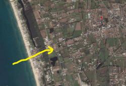 Mappa aerea della zona del Tornado di Varcaturo (NA)