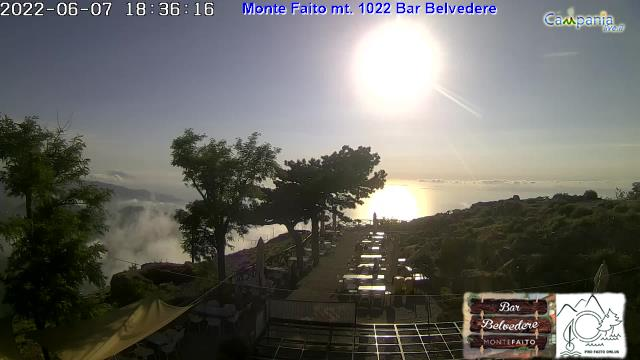 Monte Faito (NA) Bar Belvedere mt. 1022 live Webcam - Ultima immagine ripresa