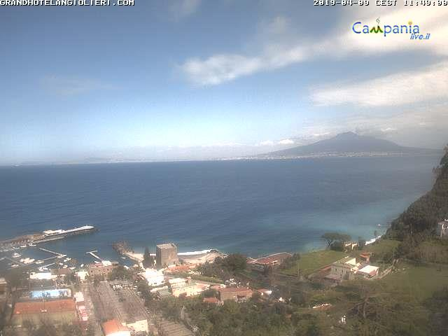 Sorrento & Vesuvio (NA) live Webcam - Ultima immagine ripresa