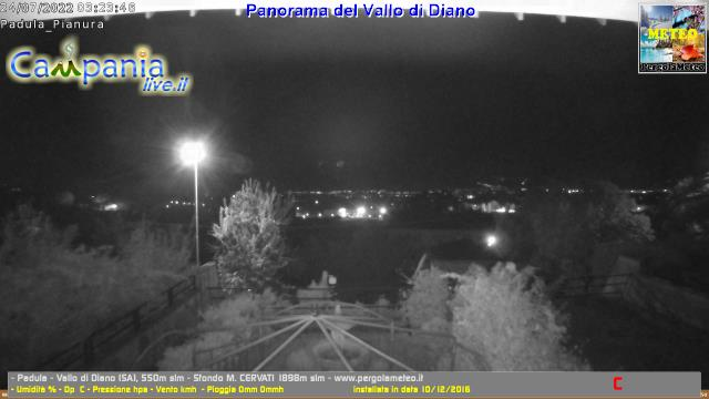 Vallo di Diano (SA) live Webcam - Ultima immagine ripresa